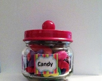 Candy Jar for American girls and all 18 inch dolls. Filled with about 20 pieces of candy.