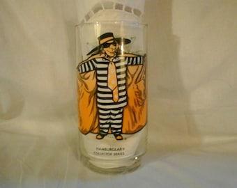 Vintage 1976 McDonald's Restaurant Collector Serues Hamburgler Drinking Glass