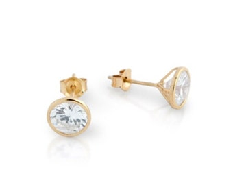 Cz silver stud earrings. Cz stud earrings. Black cz stud earrings. Round cz stud earrings. Gold cz stud earrings. Rose gold cz stud earrings