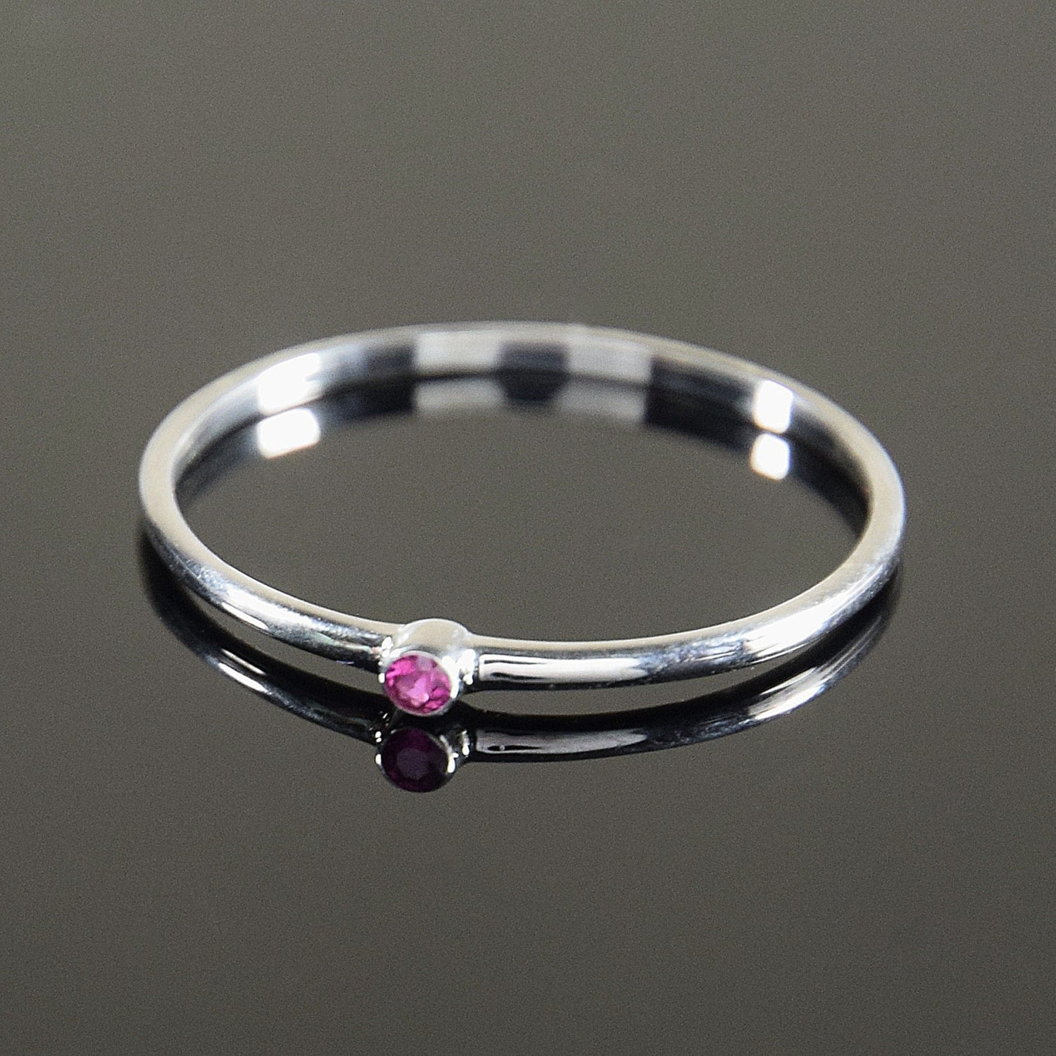 ruby ring silver ruby ring solitaire ring tiny ring small