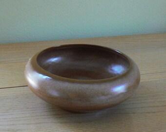 Vintage Frankoma Bowl, Frankoma Pottery Bowl #212, Vintage Pottery, Brown Pottery Bowl
