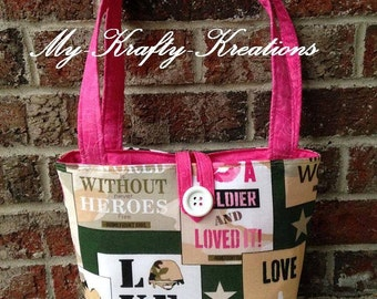 Hero Military Tote Bag Purse