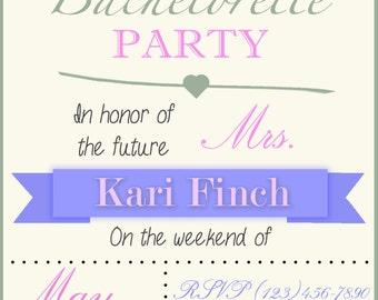 Bachelorette Party Invitation- Digital