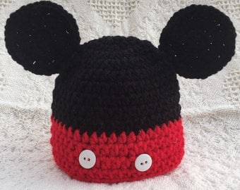 Mickey Mouse Inspired Hat Beanie, Mickey Hat, Mickey Beanie