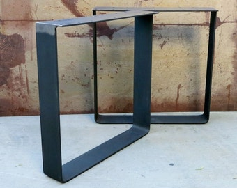 Metal table legs u shape set of 2 - Table bar industriel ...