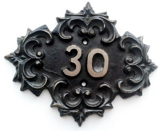 Soviet vintage  cast iron old-fashioned door number 30