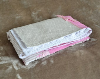 Cotton pink, beige and white coverage