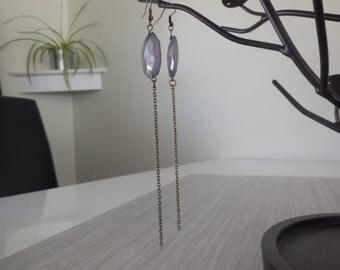 LIQUIDATION - Earrings bronzes and purple