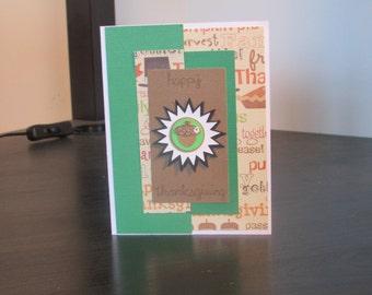 Happy thanksgiving acron card