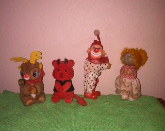 Vintage pencil toppers huggers lot of 4