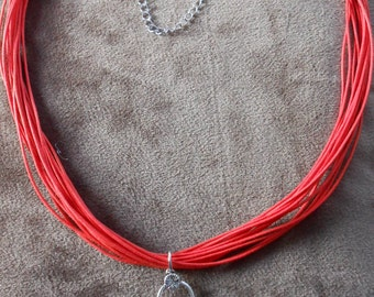 Twilight 'Sam and Emily' necklace in red