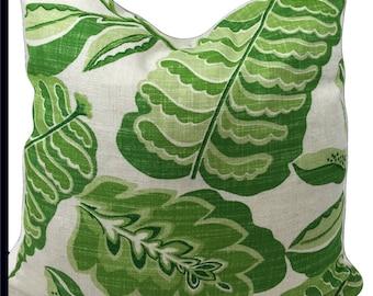 Sanderson Fabric Cushion Cover ~Fitzroy 220962  ~ Apple/Green Linen Blend - Pillow throw