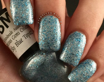 Sky Blue Topaz/ Glitter Crelly Nail Polish