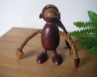 sculpture/ vintage/ mid century/Hans Bolling ?/ KAY BOJESEN era/ opened bottle/1960s/60s/robe sculpture/design scandinavian /wood monkey