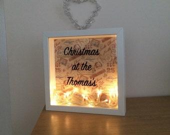 Christmas light frame