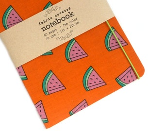 Watermelon  Fabric Covered Notebook