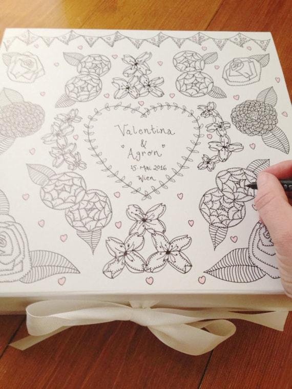 Wedding Gift Personalised Box : Wedding Keepsake Box. Personalised Wedding Gift, New Baby Girl Gift ...
