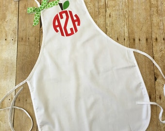 Monogrammed Teachers Apron - Personalized Teacher Apron - Back to School Teacher Gift