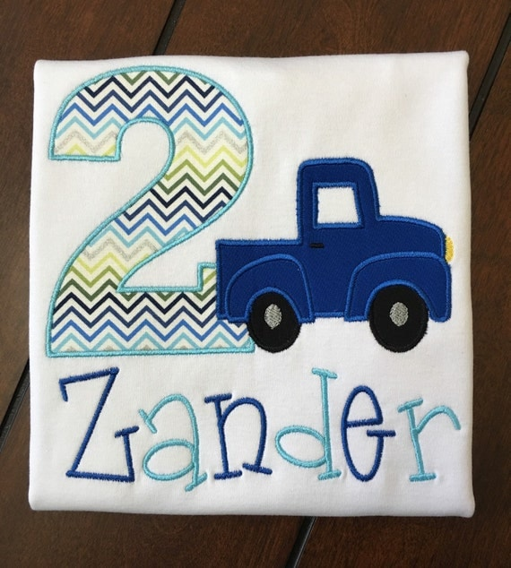 Little blue truck birthday shirt little blue truck for Little blue truck fabric