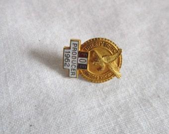 Antique Fraternal Order of Eagles Enameled Pin - Producer 1962