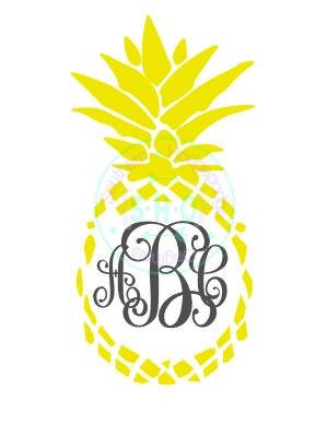 Download Pineapple monogram design/ pineapple SVG/ by ...