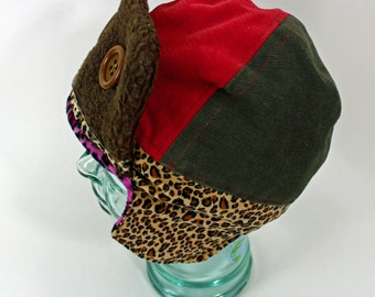 Aviator Hat The Velour Pink Leopard!
