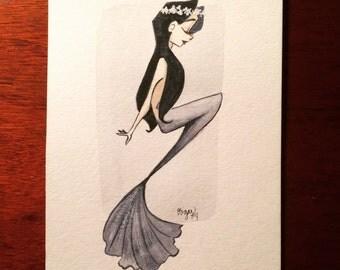 Grey mermaid