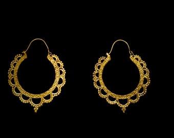 NEW! Hoop brass earrings