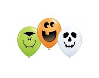 Mini Halloween Balloon Mix, Dracula Vampire Balloons, Jack o Lantern Balloons, Ghost Ghoul Balloons, Halloween Party Balloons, Mini Balloons