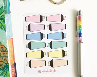Highlighter Planner Stickers