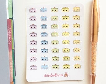 Kawaii Dutch Oven Planner Stickers