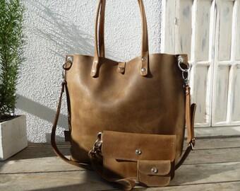 Large leather tote bag, Leather tote, Leather tote woman, brown leather tote, leather tote, tote bag, shoulder bag, leather tote Emma brown!