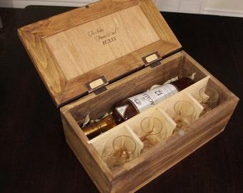 Personalized Scotch Whiskey Gift Box for Wedding Gift Groomsmen