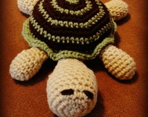 Adorable Crochet Stuffed Yarn Turtle Toy