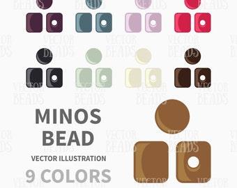 Czech Minos Beads Vector Illustration - ai, eps, png, pdf