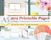 12 Months JW Theocratic Planner Suite – 209 sheets – A5 size – Exclusive Classy Theme - BONUS! 5 Printable sticker sheets!