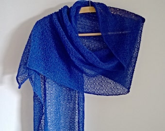 Lace wrap /blue lace scarf/lace stole/wedding shawl/lace shawl blue wrap/ summer wrap/ summer stole/ summer scarf