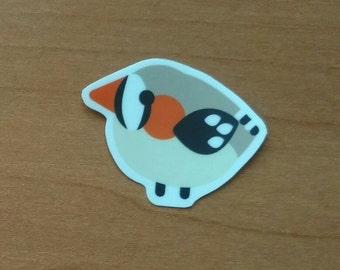 Wild Birb - Zebra Finch (Single Sticker)