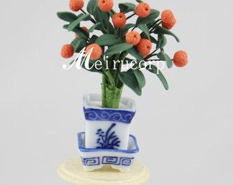 miniature flower/orange &for 1/12 scale dollhouse furniture