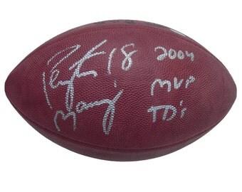 Autographed Football - Peyton Manning