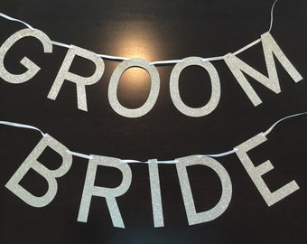 Bride and Groom Banner and Sign - High quality customizable decoration