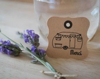 40 étiquettes personnalisées mariage - 3.5 cm