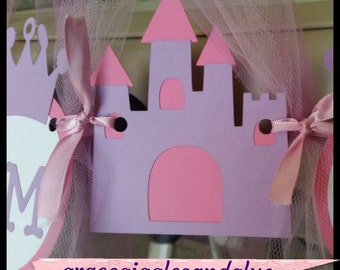 "Princess ""I AM ONE"" Highchair Banner with Tulle Skirt!!, Tulle High Chair Banner, First Birthday Banner"