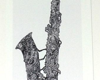 Saxophone Art, Alto Saxophone Wall Art, Tenor Saxophone Art Print, Musician Gifts, Gifts for Musicians, Saxophone Wall Decor Art Print Gift