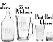 UB Buffalo etched Glassware - Mug - Glass - Beer - Growler