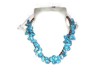 Turquoise with a Twist Necklace