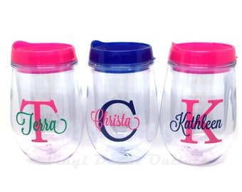 Personalized Wine Tumbler - Girls Weekend - Bachelorette Cups - Wine Lover Gift - Personalized Wine Cup - Wine Tumbler - Gifts for Her