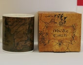 SALE Lord of the Rings Middle Earth wraparound Map Ceramic Mug