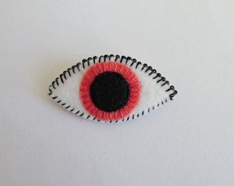 SALE Pink seeing eye brooch