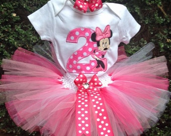 Pink Minnie Mouse Birthday Outfit Shirt 2 Minnie Mouse 2nd Birthday Outfit Girl Pink Minnie Mouse Birthday Shirt 2 Girls Birthday Shirt